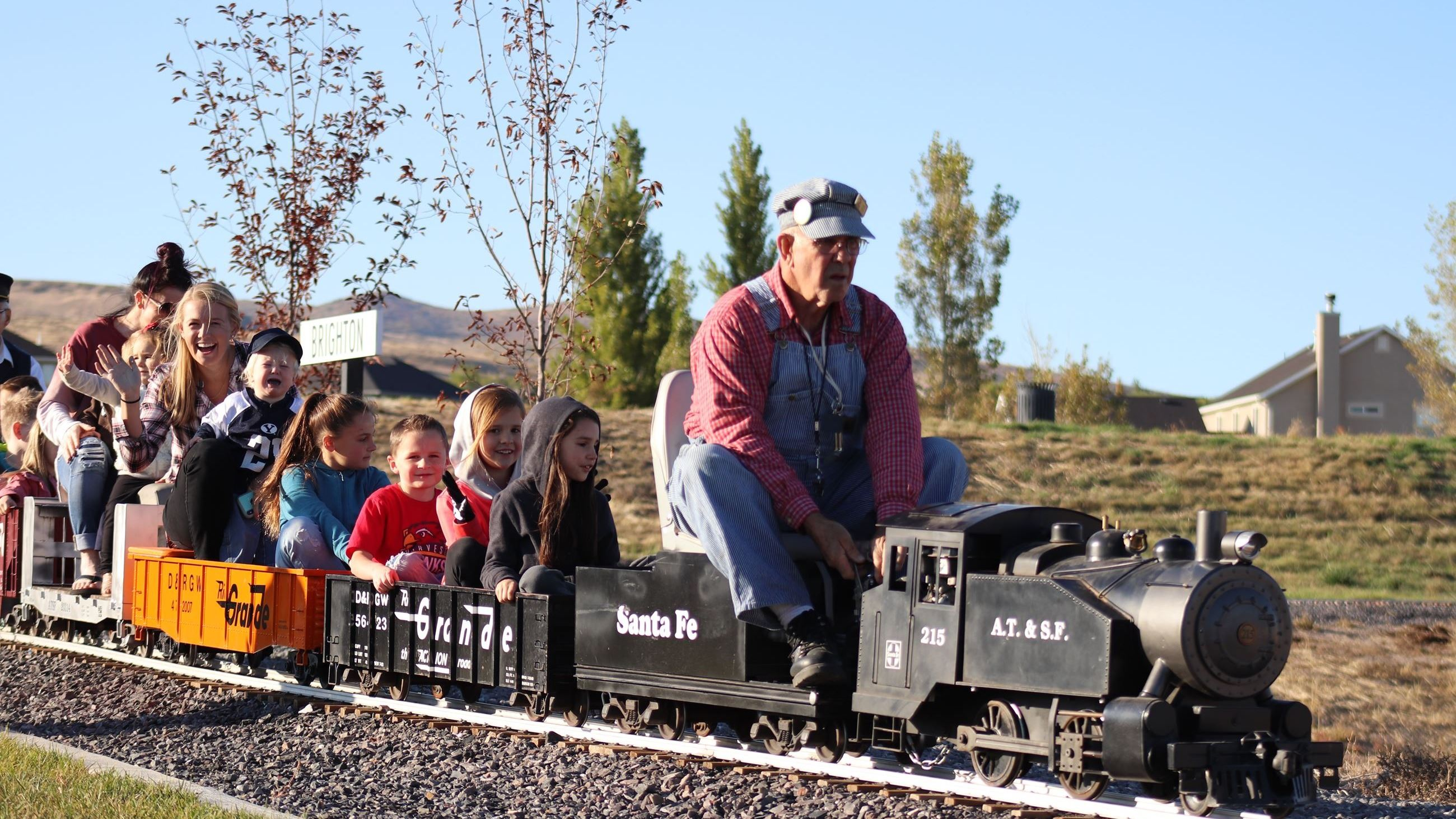 Train rides at  the Fall Festival at Shay Park