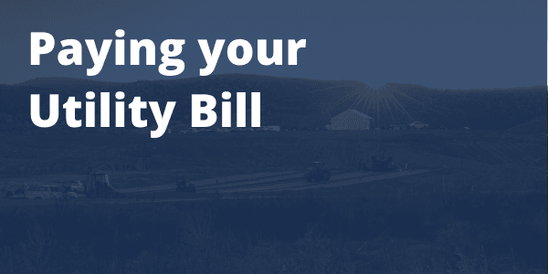 Paying Your utility Bill