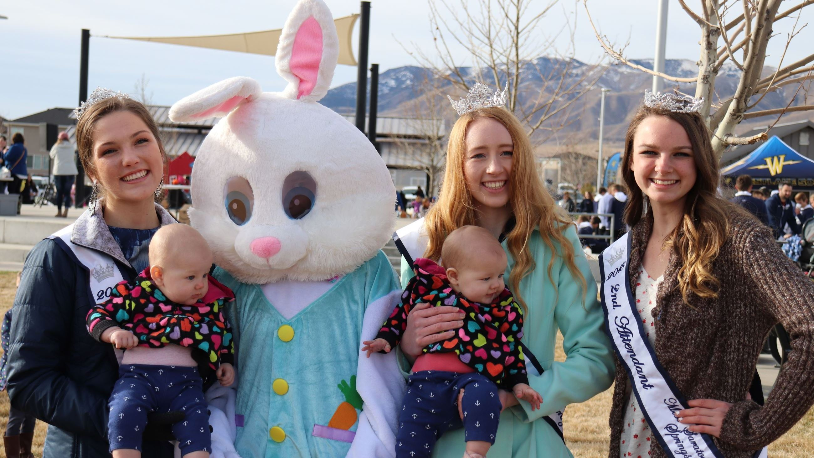 royalty with Easter bunny
