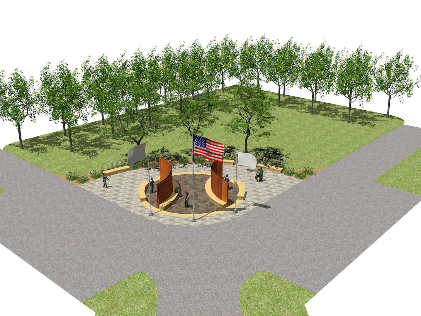 Patriot Park Veteran Monument Mock up
