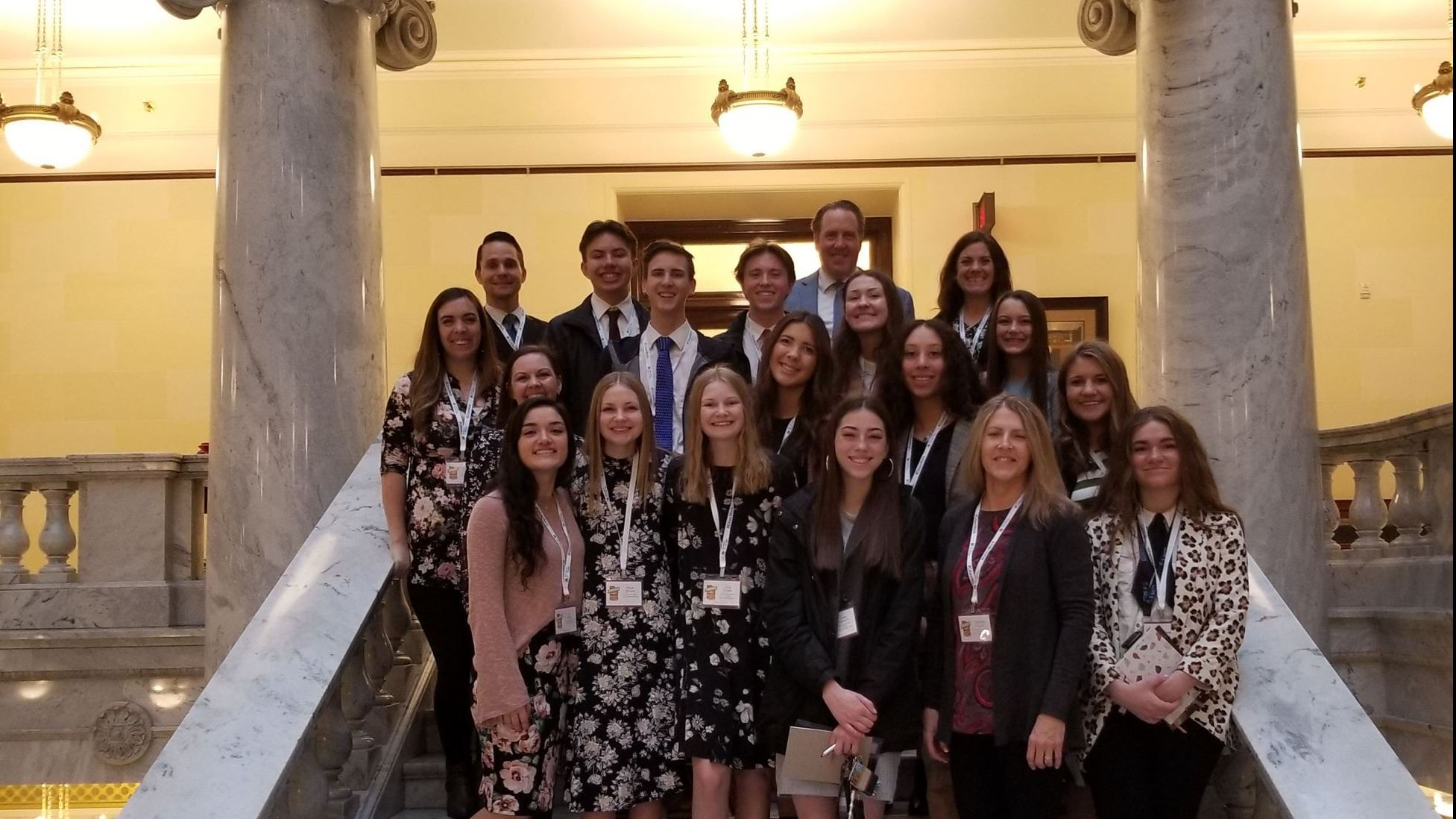 members of Youth Council at the State Capital building for Legislative Day 2020