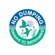 No Dumping Drains to Waterways Logo