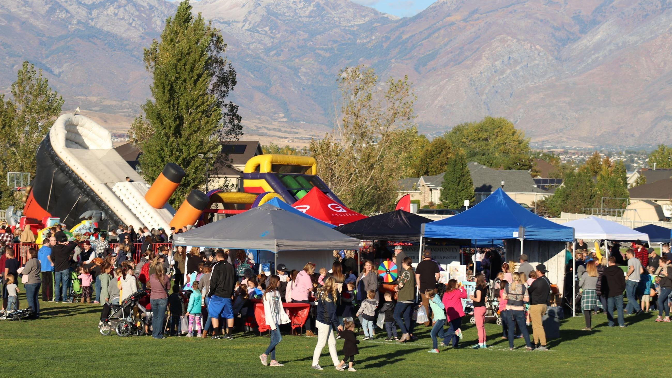 Inflatables and Booths at Fall Festival